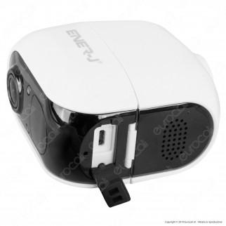 Ener-J Wireless Wi-Fi IP Camera Telecamera di Sorveglianza a Batterie Sensore 2MP Infrarossi 1080p IP54 - mod. SHA5291