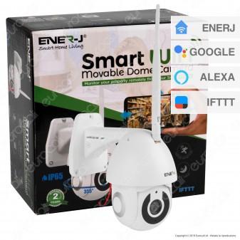 Ener-J Smart Wi-Fi Movable Dome Camera Telecamera di Sorveglianza Sensore 2MP Infrarossi 1080p IP65 - mod. SHA5295