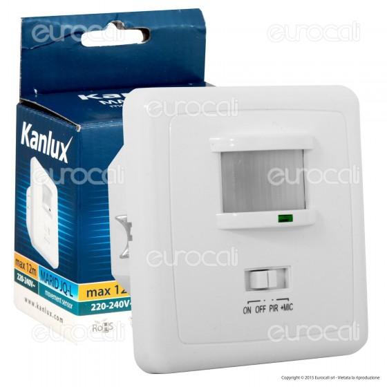 Kanlux MARID JQ-L Sensore di Movimento e Acustico a Infrarossi per Lampadine