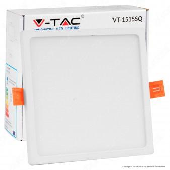 V-Tac VT-1515 SQ Pannello LED Quadrato 15W SMD da Incasso con Driver - SKU 4946 / 4947 / 4948