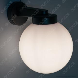 Velamp Portalampada da Giardino Wall Light da Muro Applique a Sfera Opaca per Lampadine E27 - mod. SPH202P