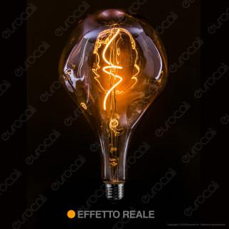 Daylight Lampadina E27 Filamento LED a Spirale 5W Bulb A165 Effetto Erosione Naturale Dimmerabile - mod. 700307.00L