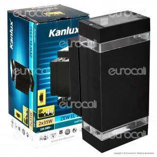 Kanlux ZEW EL-235J-B Portalampada Wall Light da Muro per Lampadine GU10