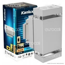 Kanlux ZEW EL-235J-GR Portalampada Wall Light da Muro per Lampadine GU10 - mod.22442