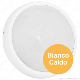 Wiva Plafoniera LED 20W mod. BULK-ALU Bianca Forma Circolare IP54 - mod. 51300006 / 51300007
