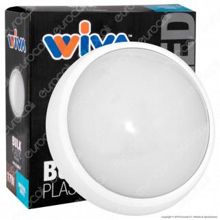 Wiva Plafoniera LED 17W mod. BULK Bianca Forma Circolare IP65 - mod. 51300015