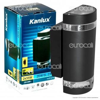 Kanlux ZEW EL-235U-B Portalampada Wall Light da Muro per Lampadine GU10