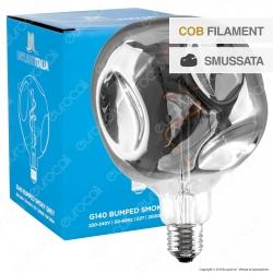 Daylight Lampadina E27 Filamento LED Spirale 5W Globo G140 Erosione Naturale Oscurata Dimmerabile - mod. 700304.00L