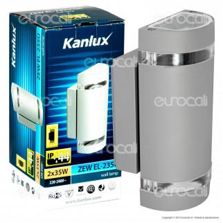 Kanlux ZEW EL-235U-GR Portalampada Wall Light da Muro per Lampadine GU10 - mod.22443