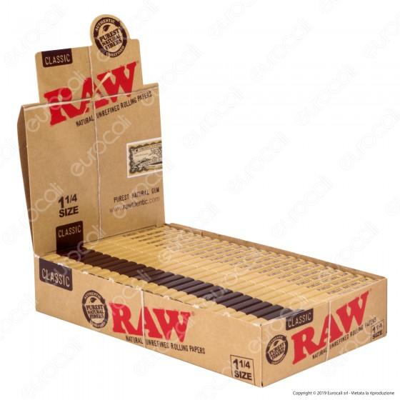 Cartine Raw Classic Corte 1¼ - Scatola da 24 Libretti