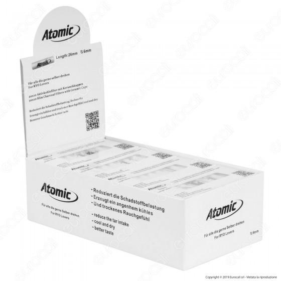 Atomic Filtri Slim 6mm Carboni Attivi - Box 20 Scatoline da 10 Filtri