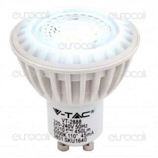 V-Tac VT-2888 Lampadina LED GU10 6W Faretto Spotlight