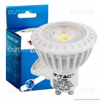 V-Tac VT-2888 D Lampadina LED GU10 6W Faretto Spotlight Dimmerabile - SKU 1654 / 1655 / 1656