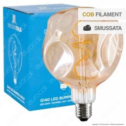 Daylight Lampadina E27 Filamento LED Spirale 5W Globo G140 Erosione Naturale Dimmerabile - mod. 700305.00L