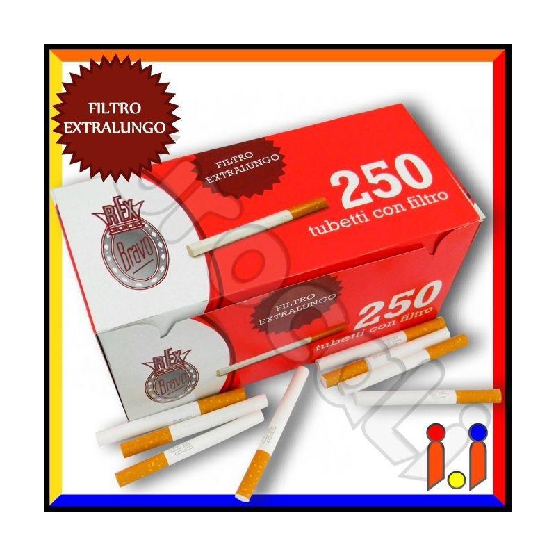 Bravo Rex Tubetti con Filtro King Size - Box da 250 Sigarette Vuote [TERMINATO]
