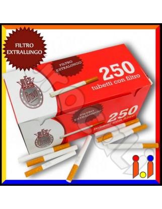 Bravo Rex Tubetti con Filtro King Size - Box da 250 Sigarette Vuote