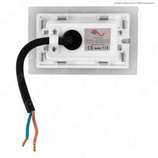 FAI Punto Luce Segnapasso LED Montaggio a Incasso Rettangolare 2,5W IP65 3in1 Changing Color - mod. 5113