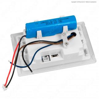 FAI Punto Luce Segnapasso LED Montaggio a Incasso Rettangolare 2,5W 3in1 Changing Color con Luce Emergenza - mod. 5113/EM