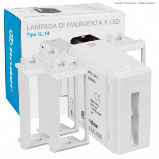 Finder Lumos Tipo 1L.10 Lampada LED 0,2W di Emergenza da Incasso Scatola 503 con Cover Colore Bianco - mod. 1L.10.8.230.0000
