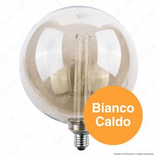 Wiva GlassLight Fumè Lampadina LED E27 4W Globo G200 Ambrata Oscurata con Incisioni Laser - mod. 12100662