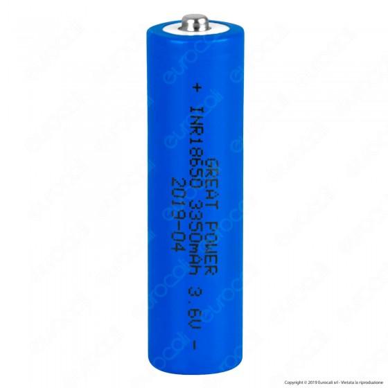 Velamp Batteria al Litio Ricaricabile INR18650 3,7V 3250mAh - Batteria Singola