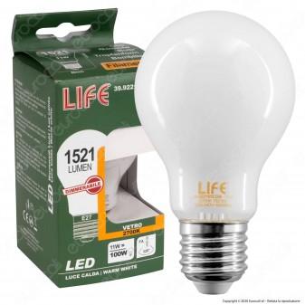 Life Lampadina LED E27 11W Bulb A60 Milky Filamento Dimmerabile - mod. 39.922165CDM