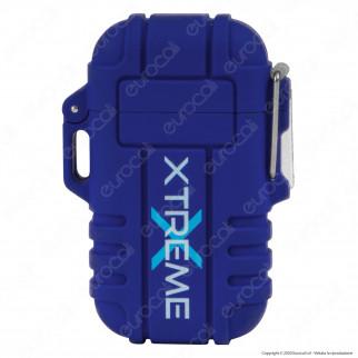 Silver Match Accendino USB con Doppio Arco al Plasma Impermeabile - 1 Accendino Blu
