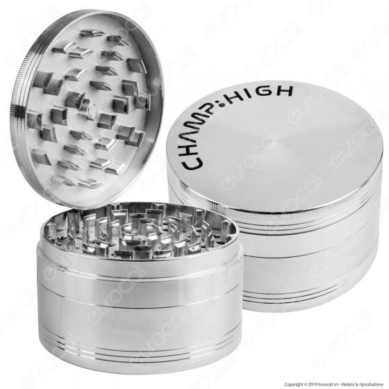 Champ High Maxi Grinder Tritatabacco in Metallo Alluminio 4 Parti Ø100mm