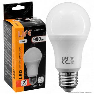 Life Lampadina LED E27 11W Bulb A60 con Sensore di Movimento - mod. 39.920361P