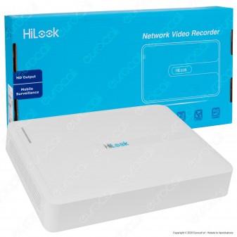 Hikvision HiLook Network Video Recorder Registratore NVR per Telecamere di Sorveglianza con 8 Canali IP - mod. NVR-108H-D/8P