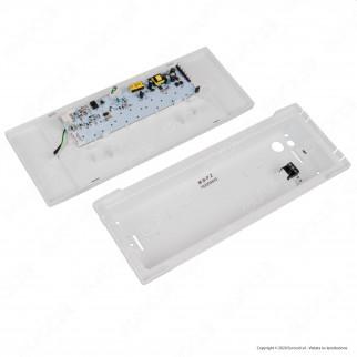 Awex Lampada LED d'Emergenza 1W Anti Black Out 300lm Autonomia 1 Ora con Pittogrammi - mod. WND1WC1MWT