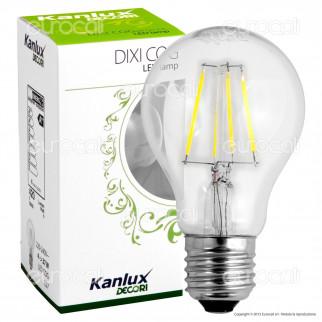 Kanlux DIXI COG Lampadina LED E27 4W Bulb A60 Filamento -mod.22461