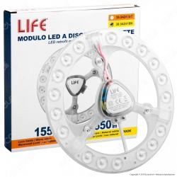 Life Modulo LED Circolina con Magnete Ø185mm 18W per Plafoniere - mod. 39.942418C / 39.942418N