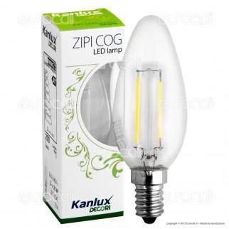 Kanlux ZIPI COG Lampadina LED E14 2W Candela Filamento