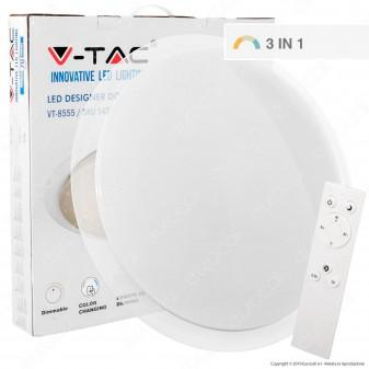 V-Tac VT-8555 Plafoniera LED 60W Forma Circolare Effetto Cielo Stellato con Telecomando - SKU 1455