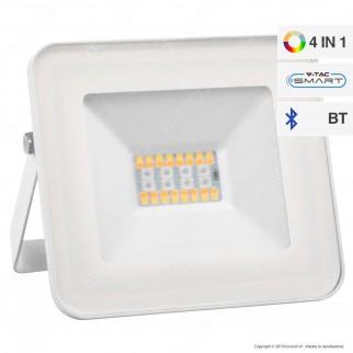 V-Tac VT-5020 Faro LED 20W con Wireless Smart Control RGB+W Dimmerabile - SKU 5984