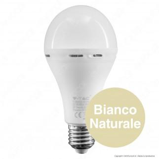 V-Tac PRO VT-2309 Lampadina LED E27 9W Bulb A70 Luce Emergenza Anti Black-Out - SKU 2371 / 2372 / 2373