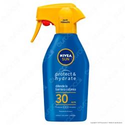 Nivea Sun Latte Solare Spray Protect & Hydrate Crema Idratante Resistente all'Acqua FP 30 - Flacone da 300ml