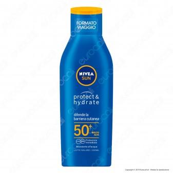 Nivea Sun Latte Solare Protect & Hydrate Formato Viaggio SPF 50+ - Flacone da 100ml