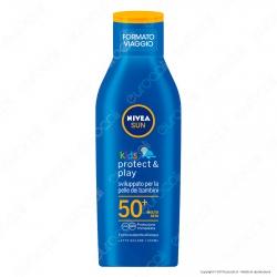 Nivea Sun Latte Solare Kids Protect & Play Formato Viaggio FP 50+ - Flacone da 100ml