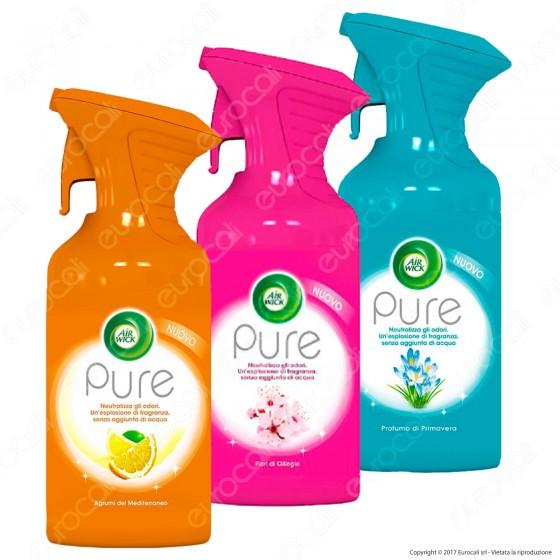 Air Wick Pure Spray Fragranze Assortite - 6 Spray da 250ml