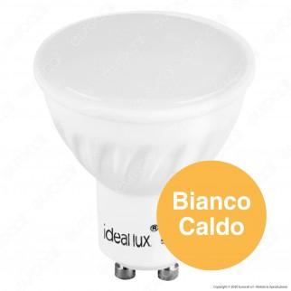 Ideal Lux Lampadina LED GU10 7W Faretto Spotlight in Ceramica 100° - mod. 101378 / 117652