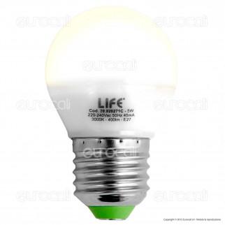 Life Serie GF Lampadina LED E27 5W MiniGlobo G45
