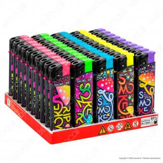 SmokeTrip Accendini Elettronici Ricaricabili Fantasia SmokeTrip Mushroom - Box da 50 Accendini