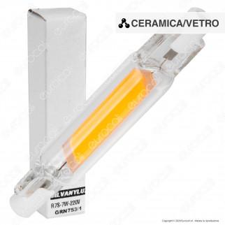 Silvanylux Lampadina LED COB R7s L78 7W Bulb Tubolare Ultra Slim - mod. GRN753/1 / GRN753/3