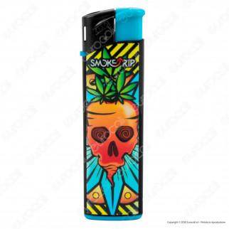 SmokeTrip Accendini Elettronici Ricaricabili Fantasia Fruit Skulls - Box da 50 Accendini