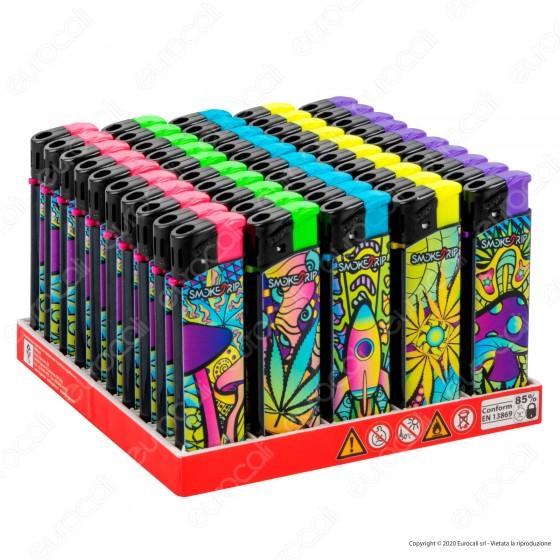 SmokeTrip Accendini Elettronici Ricaricabili Fantasia Magic Trip - Box da 50 Accendini