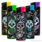 SmokeTrip Accendini Elettronici Ricaricabili Fantasia Mexican Skulls - 5 Accendini