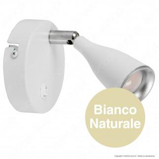 V-Tac VT-805 Lampada da Muro Wall Light LED 4,5W Colore Bianco con Interruttore - SKU 8675 / 8677