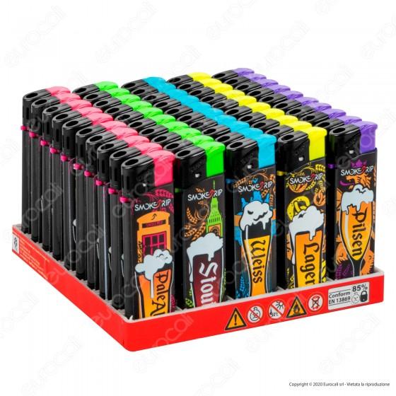 SmokeTrip Accendini Elettronici Ricaricabili Fantasia Beers - Box da 50 Accendini